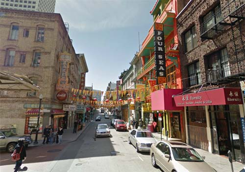 2013 - Grant Avenue in Chinatown, San Francisco, USA (Google Streetview)