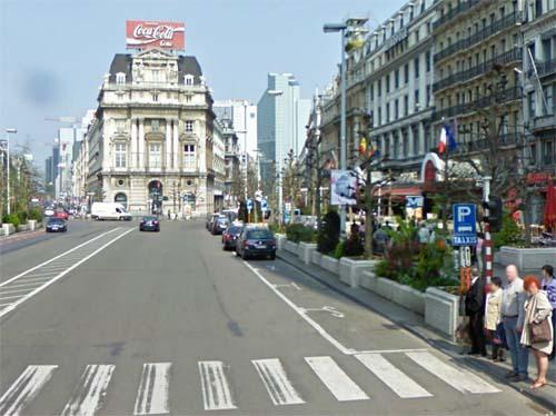 2013 - De Brouckèreplein in Brussels Belgium (Google Streetview)