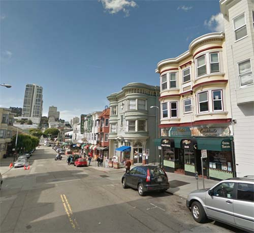 2013 - Green Street in Little Italy in San Francisco, USA (Google Streetview)