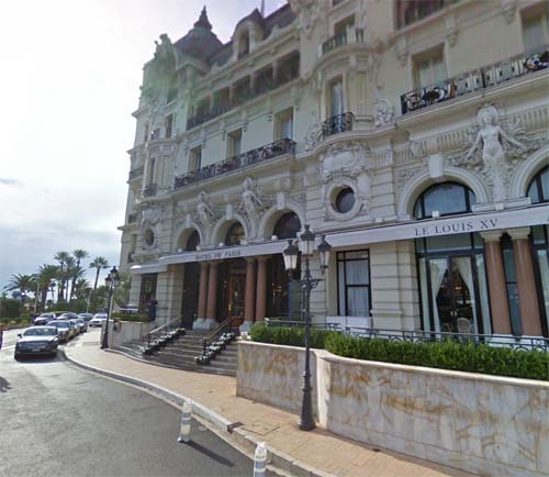 2013 - Hotel de Paris on Avenue de Monte-Carlo in Monaco (Google Streetview)