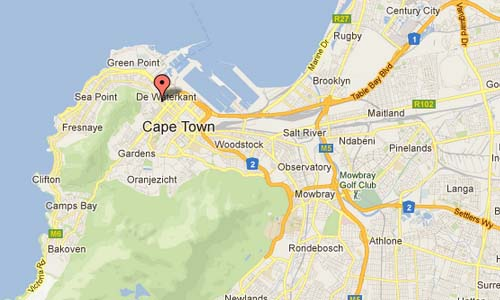 Hudson St in Cape Town - SA Map