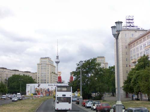 2013 - Karl Marx Allee towards Strausberger Platz in Berlin Germany (Google Streetview)