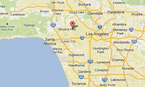 Orlando Avenue Los Angeles USA Map