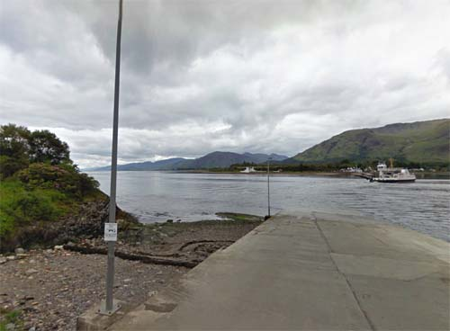 2013 - Corran ferry crossing Loch Linnhe to Ardgour, Scotland, UK (Google Streetview)