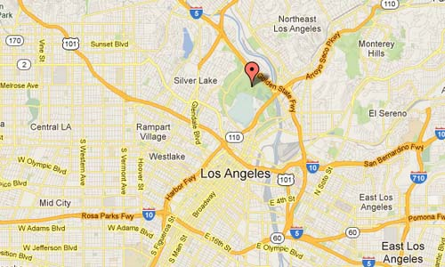 Dodgers Stadium LA USA Map