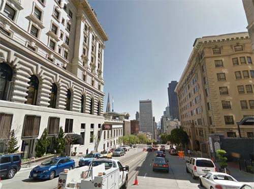 2013 - Fairmont Hotel at California Street in San Francisco, USA (Google Streetview)