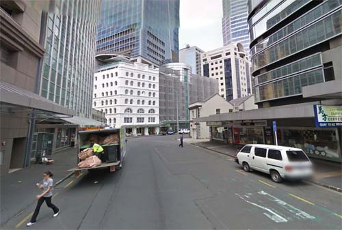 2013 - Fort Street in Auckland, New Zealand (Google Streetview)