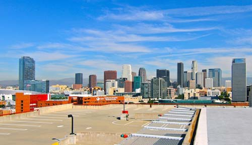 2013 - Parking at roof of Grand Ave Garage in Los Angeles in USA