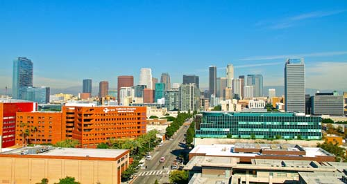 2013 - LA Skyline from Grand Ave Garage in Los Angeles in USA