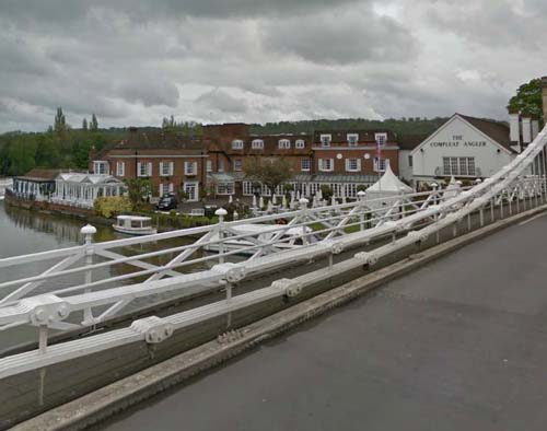 2013 - Macdonald Compleat Angler Hotel in Marlow, UK (Google Streetview)