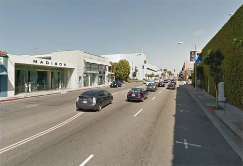 2013 - Melrose Ave in Los Angeles USA (Google StreetView)