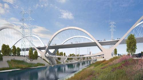 New Sixt Street Bridge LA USA