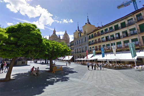 2013 - Plaza Mayor in Segovia, Spain (Google Streetview)