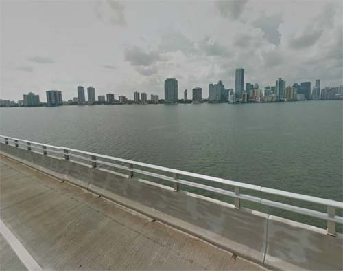 2013 - Rickenbacker Causeway in Miami FL USA (Google Streetview)