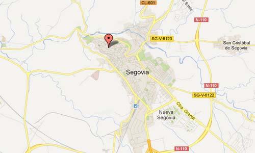 Segovia Spain Map