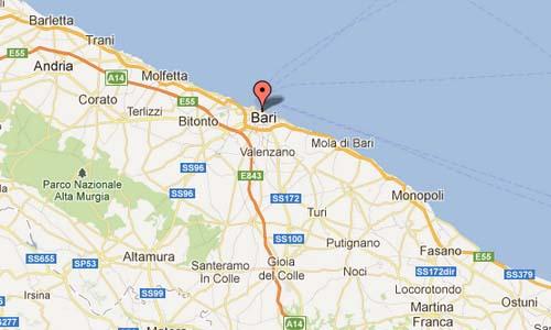 Teatro Communale Piccinni Bari Italy Map