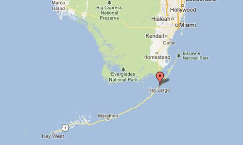 UKSC Key Largo USA Map