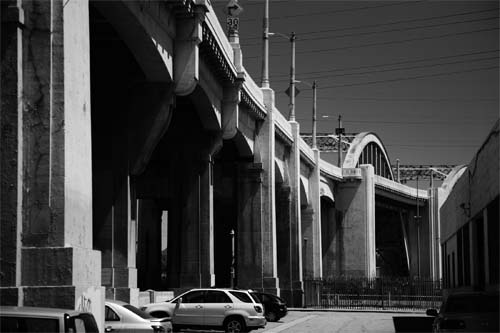 Under the Sixt Street Bridge LA