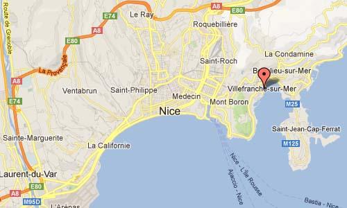 Villefranche-sur-Mer Map