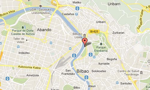 Arenal Ibilbidea in Bilbao Map