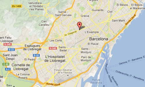 Av Diagonal Barcelona Map