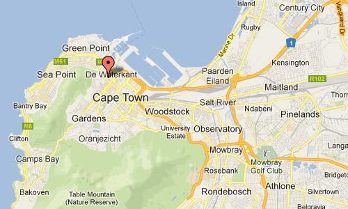 Capetown Hudson st map