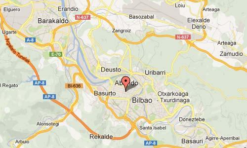 Osakidetza in Bilbao Map