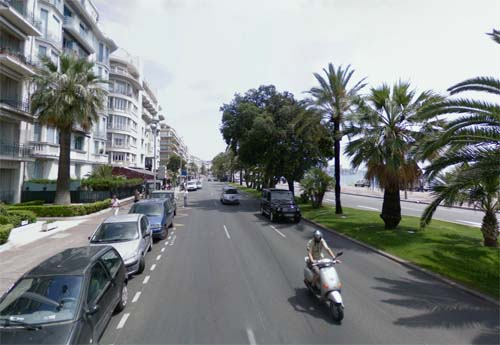 2013 - Promenade des Anglais in Nice, France (Google Streetview)