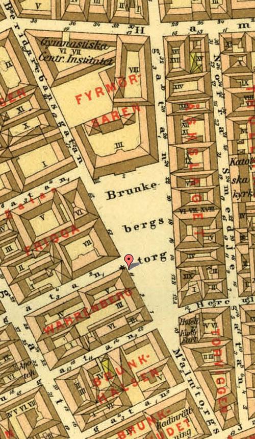 1885 - Brunkebergstorg in Stockholm (Stockholmskällan.se)
