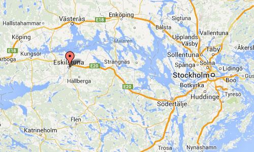 Eskilstuna map