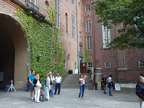 2013 - Entrance at Stockholms stadshus at Borgargården (own photo)