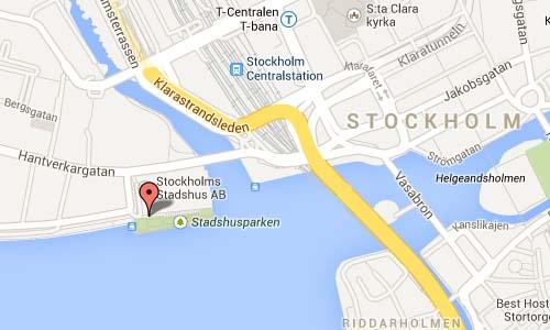 stockholm stadhus map