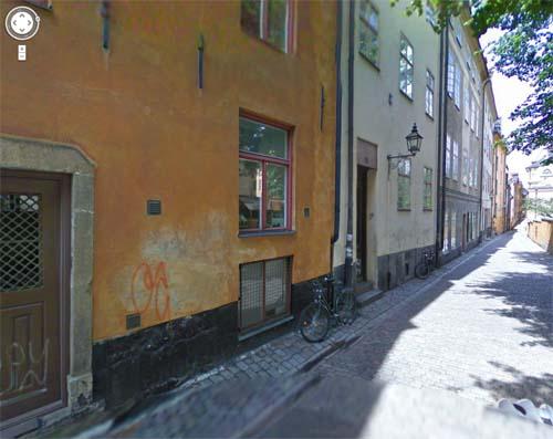 2013 - Prästgatan in Gamla Stan in Stockholm (Google Streetview)