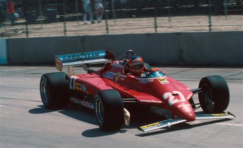 1982 - Ferrari 126 C2 with Gilles Villeneuve