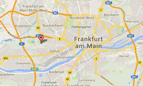 Parkhaus Rebstock in Frankfurt Map