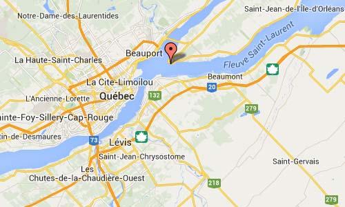 Rue Gagnon in Quebec Map