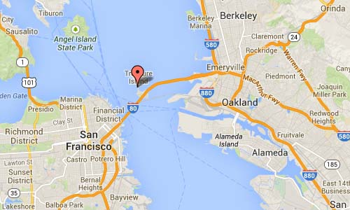 Treasure Island Road in San Francisco Map