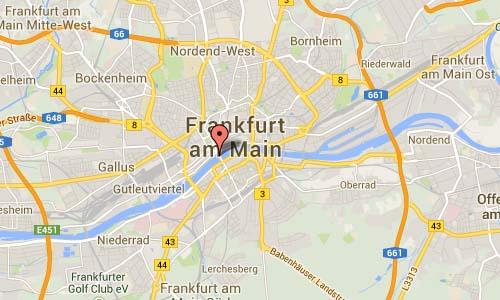 Untermainbrücke in Frankfurt Map