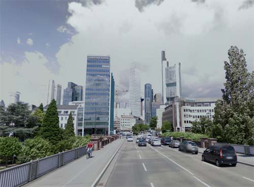 2013 - Untermainbrücke in Frankfurt Germany (Google Streetview)