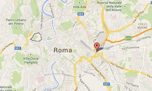 Via Prenestina Map