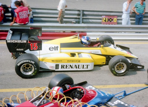 Patrick Tambay with Renault RE50