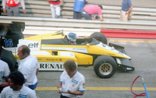 Derek Warwick with Renault RE50