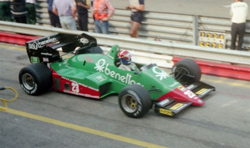 Eddie Cheever with Alfa Romeo 184T