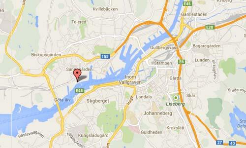 Göteborg Kvarnpirsgatan map