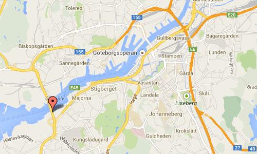 Lundbyleden Göteborg map