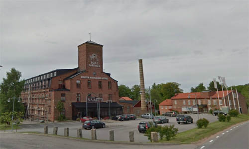 2013 - Nääs Fabriken as seen from the motorway E20 (Google Streetview)