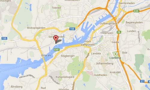 Ostra-Eriksbergsgatan map