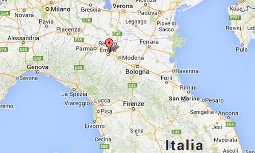 Reggio Emillia Map