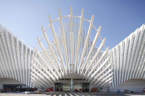 2013 - Stazione di Reggio Emilia AV Mediopadana  in Reggio Emillia in Italy.