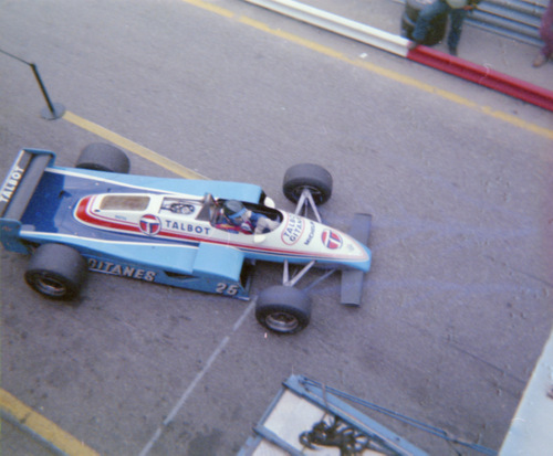 Jacques Laffite testing at Zandvoort